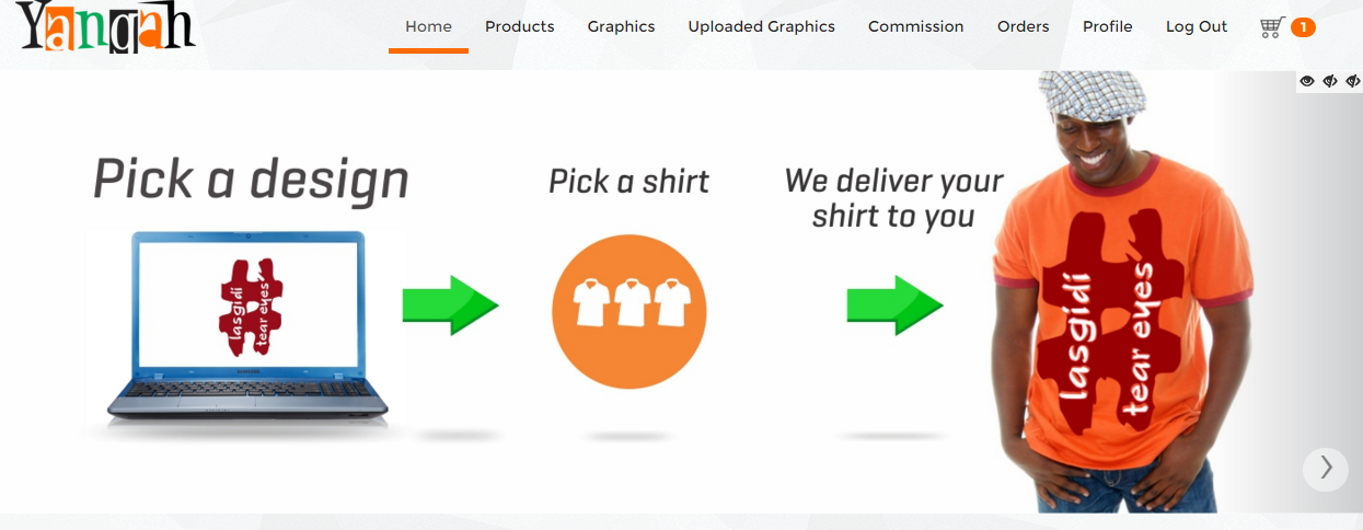 How to customize a shirt on Yangah.com
